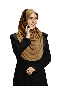 Gold shade Hijab Naaz Modestly stylish mehar Hijab collection online