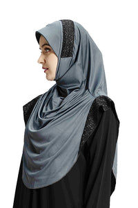 Grey shade Hijab Naaz Modestly stylish mehar Hijab collection online