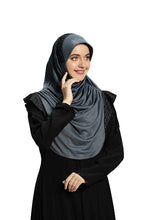 Load image into Gallery viewer, Grey shade Hijab Naaz Modestly stylish mehar  Hijab collection online