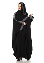 Load image into Gallery viewer, Mehar Hijab's Modest Women's Designed elegant Look SHEHARBANO Premium feel good abaya BLACK