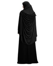 Load image into Gallery viewer, Soft Black Shade Long Frilled Women's mehar Hijab