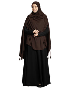 Mehar Hijab Modest Fashion Women's Stylish Instant Long Hijab Ulema Drip Drop