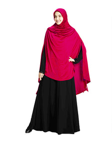 Pink Colour Full covered Modest and Stylish Instant Hijab