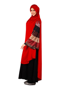 MEHAR HIJAB'S Muslim Modest Women's Stylish Hijab feel good iCRA fabric ULEMA HIJAB RED