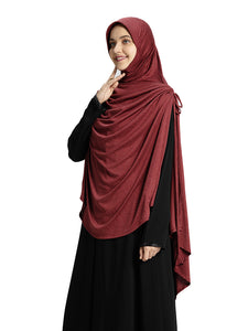 Maroon colour Long Hijab Mehar Hijab