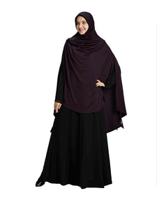 Wildberry Shade Long Frilled Women's mehar Hijab