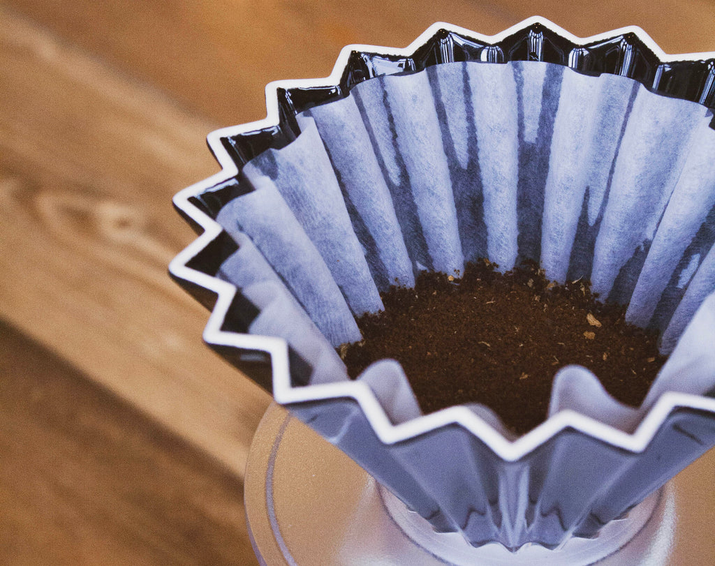 Pour over coffee grinds