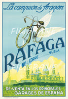 RAFAGA VéLO/CYCLES Rluf-POSTER/REPRODUCTION  d1 AFFICHE VINTAGE