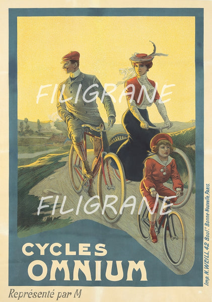 OMNIUM VéLO/CYCLES Rdoo-POSTER/REPRODUCTION  d1 AFFICHE VINTAGE