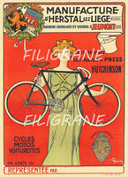 HERSTAL VéLO/CYCLES Rihg-POSTER/REPRODUCTION  d1 AFFICHE VINTAGE