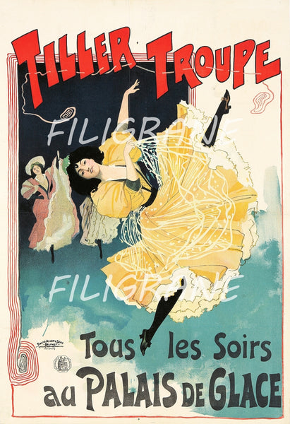 SPECTACLE TILLER TROUPE DANSE Rjvg-POSTER/REPRODUCTION  d1 AFFICHE VINTAGE