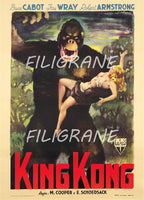 KING KONG FILM Rfpn-POSTER/REPRODUCTION  d1 AFFICHE VINTAGE