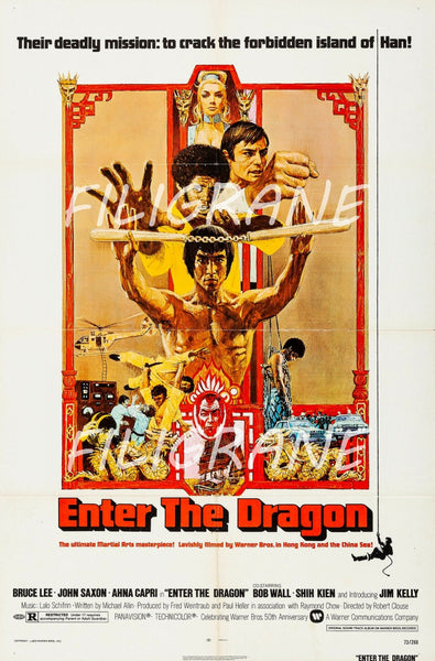 ENTER the DRAGON FILM Rehs-POSTER/REPRODUCTION d1 AFFICHE VINTAGE