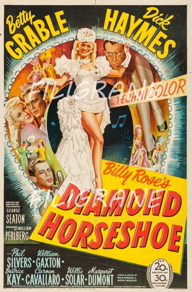 DIAMOND HORSESHOE FILM Rtet-POSTER/REPRODUCTION d1 AFFICHE VINTAGE