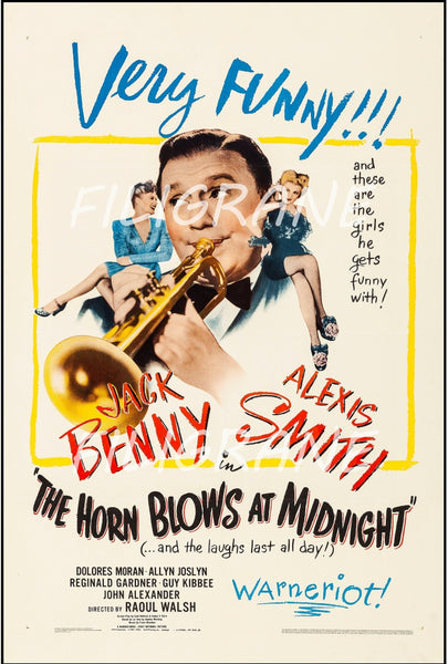 CINéMA THE HORN BLOWS at MIDNIGHT Ruyl-POSTER/REPRODUCTION d1 AFFICHE VINTAGE