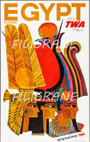 AIRLINES EGYPTE TWA Rwlu-POSTER/REPRODUCTION d1 AFFICHE VINTAGE
