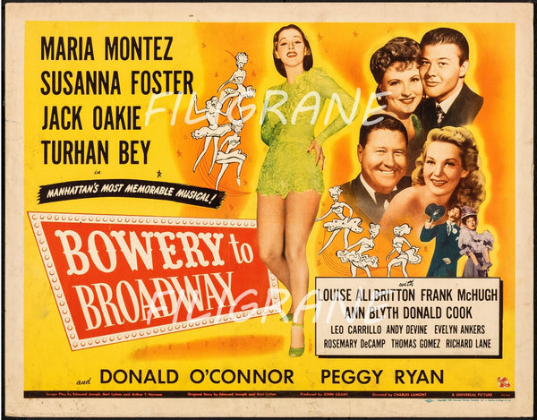 BOWERY to BROADWAY FILM Rehs-POSTER/REPRODUCTION d1 AFFICHE VINTAGE