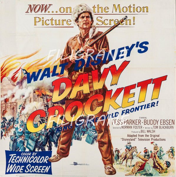 DAVY CROCKETT FILM Rqos-POSTER/REPRODUCTION d1 AFFICHE VINTAGE