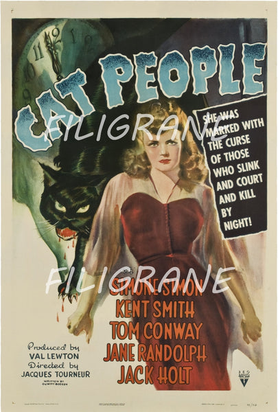 CAT PEOPLE FILM Rxly-POSTER/REPRODUCTION d1 AFFICHE VINTAGE