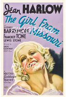 CINéMA THE GIRL from MISSOURI Rfzm-POSTER/REPRODUCTION d1 AFFICHE VINTAGE