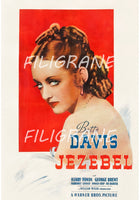 JEZEBEL FILM BETTE DAVIS Rhjp-POSTER/REPRODUCTION d1 AFFICHE VINTAGE