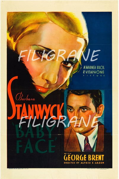 BABY FACE FILM Rblw-POSTER/REPRODUCTION d1 AFFICHE VINTAGE