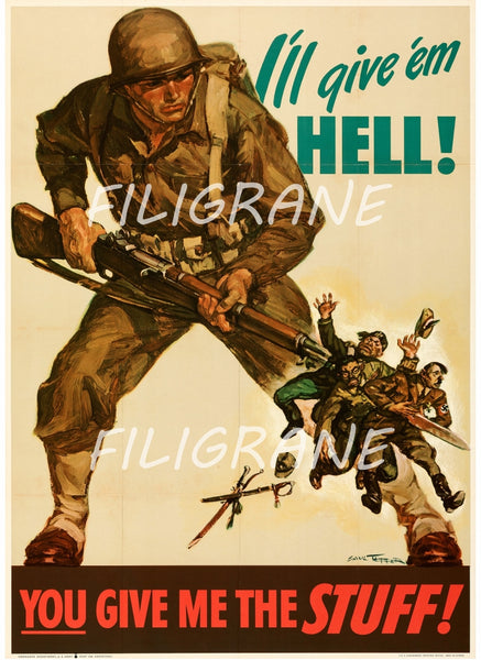 CINéMA YOU GIVE ME THE STUFF ARMY Rtiy-POSTER/REPRODUCTION d1 AFFICHE VINTAGE