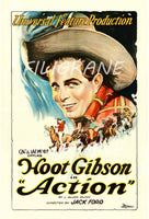 ACTION FILM HOOT GIBSON Rnyn-POSTER/REPRODUCTION d1 AFFICHE VINTAGE