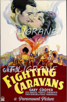 FIGHTING CARAVANS FILM Rfja-POSTER/REPRODUCTION d1 AFFICHE VINTAGE