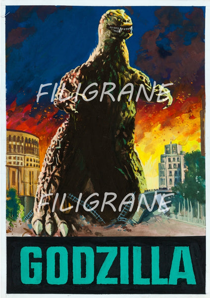 GODZILLA FILM Rpcp-POSTER/REPRODUCTION d1 AFFICHE VINTAGE