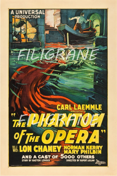 CINéMA THE PHANTOM of the OPERA Robt-POSTER/REPRODUCTION d1 AFFICHE VINTAGE