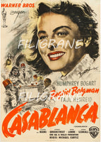 CASABLANCA FILM Rqor-POSTER/REPRODUCTION d1 AFFICHE VINTAGE