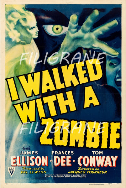 CINéMA I WALKED with a ZOMBIE  Rujt-POSTER/REPRODUCTION d1 AFFICHE VINTAGE