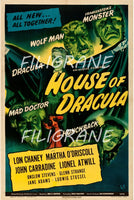 HOUSE of DRACULA FILM Roab-POSTER/REPRODUCTION d1 AFFICHE VINTAGE