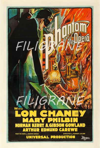 CINéMA THE PHANTOM of the OPERA Rkmv-POSTER/REPRODUCTION d1 AFFICHE VINTAGE