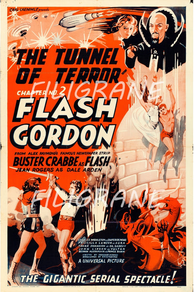 FLASH GORDON FILM Rivm-POSTER/REPRODUCTION d1 AFFICHE VINTAGE