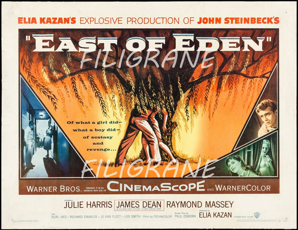 EAST of EDEN FILM Rmaa-POSTER/REPRODUCTION d1 AFFICHE VINTAGE