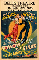 CINéMA FOLLOW the FLEET  Rbpn-POSTER/REPRODUCTION d1 AFFICHE VINTAGE