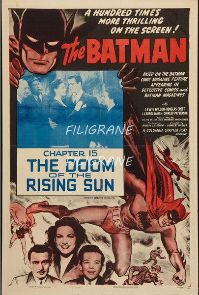 CINéMA BATMAN DOOM of THE RISING Rwez-POSTER/REPRODUCTION d1 AFFICHE VINTAGE