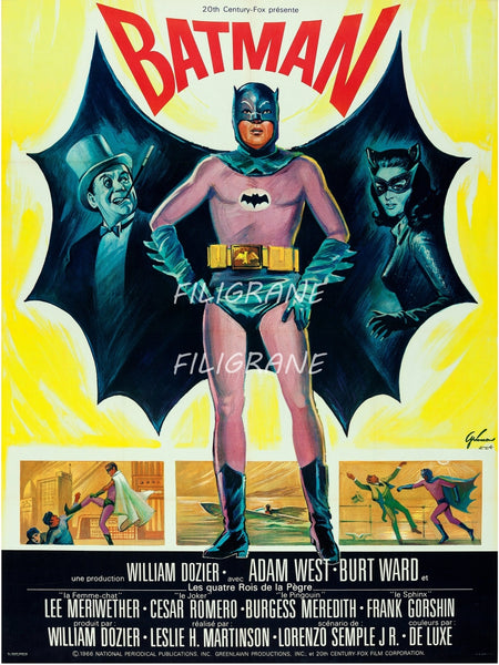BATMAN FILM Rgsq-POSTER/REPRODUCTION d1 AFFICHE VINTAGE