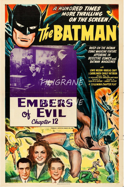 CINéMA BATMAN EMBERS of EVIL Rpnq-POSTER/REPRODUCTION d1 AFFICHE VINTAGE