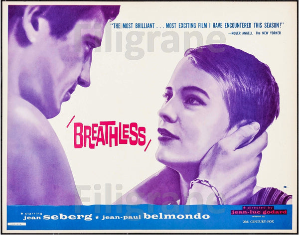 BREATHLESS FILM Rufh-POSTER/REPRODUCTION d1 AFFICHE VINTAGE