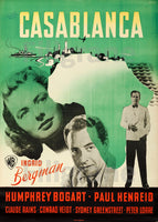 CASABLANCA FILM Rfcr-POSTER/REPRODUCTION d1 AFFICHE VINTAGE