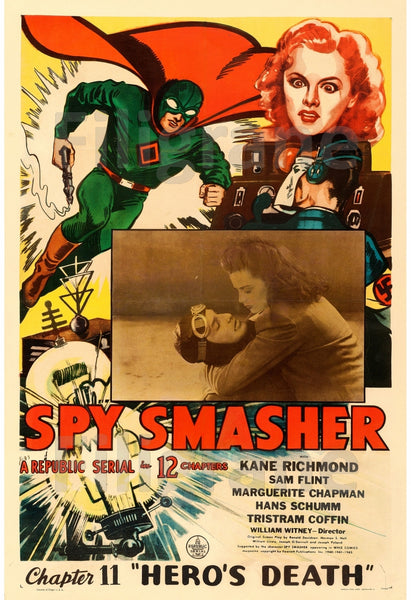 CINéMA SPY SMASHER HERO'S DEATH Rxye-POSTER/REPRODUCTION d1 AFFICHE VINTAGE