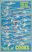 AIRLINES COOKS Rgif-POSTER/REPRODUCTION d1 AFFICHE VINTAGE