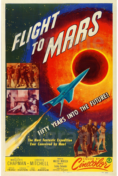 FLIGHT to MARS FILM Ritr-POSTER/REPRODUCTION d1 AFFICHE VINTAGE