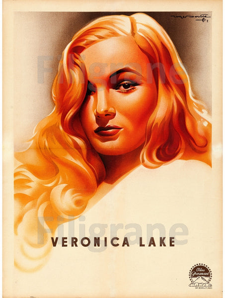 CINéMA VERONICA LAKE Rxdq-POSTER/REPRODUCTION d1 AFFICHE VINTAGE