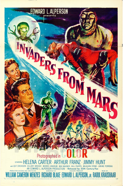 INVADERS from MARS FILM Rpau-POSTER/REPRODUCTION d1 AFFICHE VINTAGE