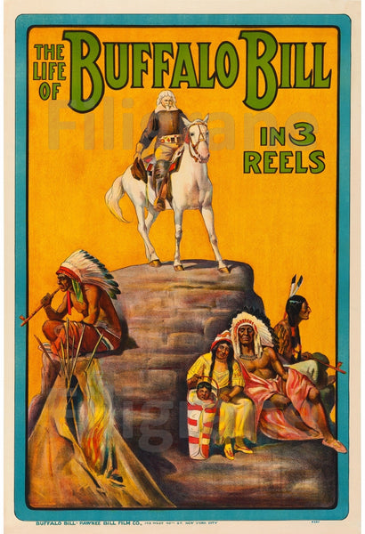 CIRQUE BUFFALO BILL INDIENS Rabw-POSTER/REPRODUCTION d1 AFFICHE VINTAGE