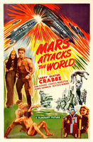 CINéMA MARS ATTACKS the WORLD Ruwi-POSTER/REPRODUCTION d1 AFFICHE VINTAGE